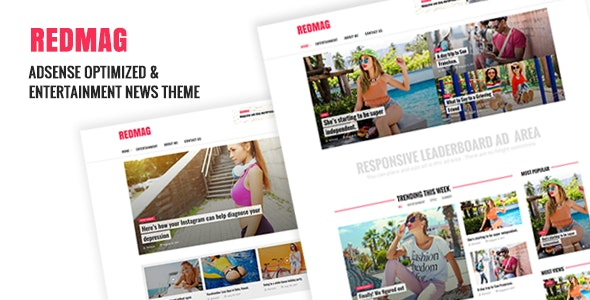 RedMag - AdSense Optimized & Entertainment News Theme​