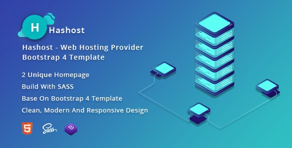 HasHost – Web Hosting Bootstrap 4 Template