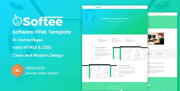 Softee - SaaS & Software Landing Page HTML Template