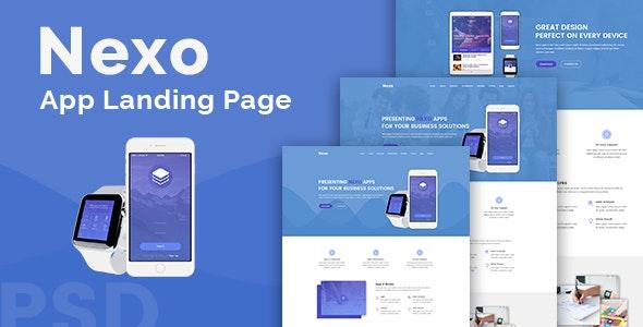 13. Nexo – Multipurpose Landing Page Template